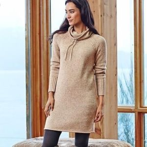 Athleta Traverse City Merino Wool Sweater Dress XS